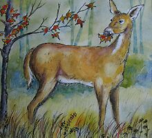 White-Tailed Deer by Jeanne Vail