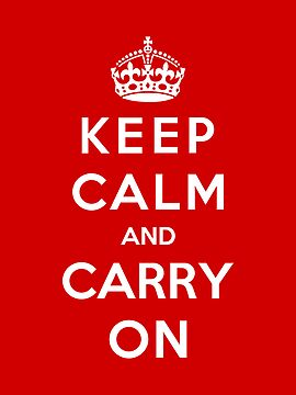 Keep Calm And Carry On by Royal Bros Art