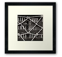 BOXES AND ROPES Framed Print