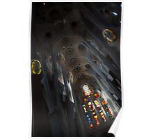 The Fascinating Interior of Sagrada Família - Antoni Gaudi's Masterpiece Poster