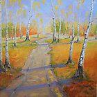 Birch Groves in Autumn by Claudia Hansen