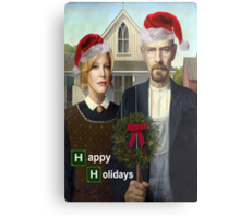 Happy Holidays from The Whites Metal Print