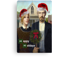 Happy Holidays from The Whites Canvas Print