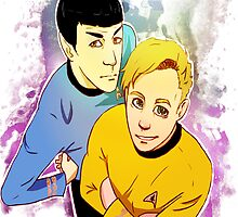 Star Trek Kirk and Spock print by radicaldoodles