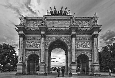 Arc-de-Triomphe du Carrousel - Paris - Black and White by Yannik Hay