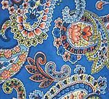 Blue shades of paisley by kobalos
