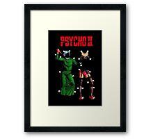 "Psycho II ""Paper Dolls"" Framed Print"