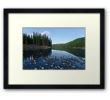 Taiga mirrored on Steward River near town of Mayo Framed Print