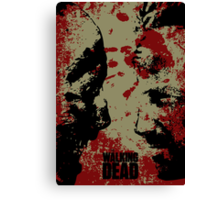 The WALKING DEAD - Rick vs Walkers Canvas Print
