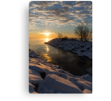 Sunshine on the Ice - Lake Ontario, Toronto, Canada Canvas Print
