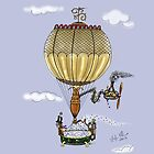 HOT AIR BALLOON STEAMPUNK STYLE IPAD COVER by squigglemonkey