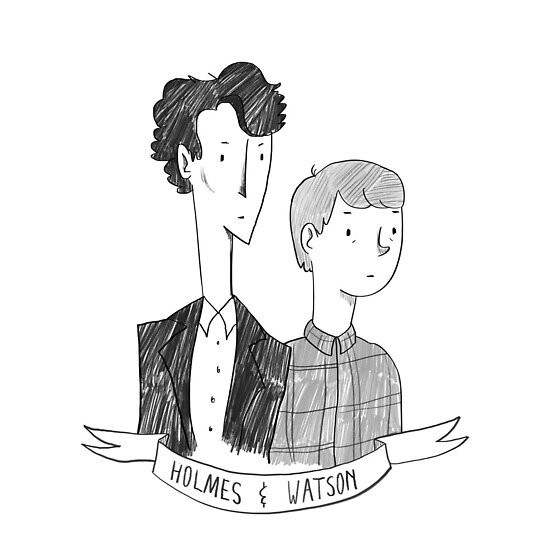 Holmes and Watson by taryndraws