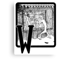 W is for... Canvas Print
