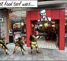 Fast food turf wars.... by Tim Constable