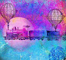 TRAIN IN THE SPACE by ganechJoe