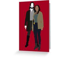 Abbie and Ichabod - Sleepy Hollow (2013) Greeting Card