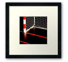 GOAL AND RED LINES Framed Print