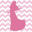 Aurora Sleeping Beauty silhouette on chevron by sweetsisters