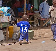 Young Chelsea Fan in The Gambia by Sue Robinson
