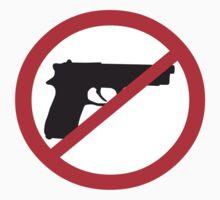 Anti-Guns Sign by retromoomin