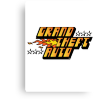 Grand Theft Auto (First, Original Logo) Canvas Print