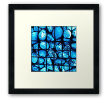 TRAPPED BLUE STONES Framed Print