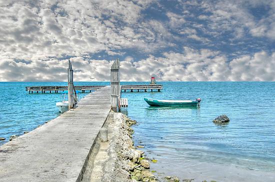 Gas Station is Open in Punta Gorda - Belize, Central America by 242Digital
