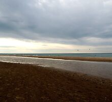 Cloudy, Lake Michigan by Rebekka Reynolds