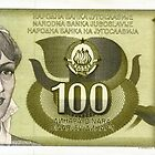 banknotes of the Yugoslav 100 dinars by SofiaYoushi