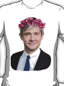 Martin Freeman Flower Crown T-Shirt