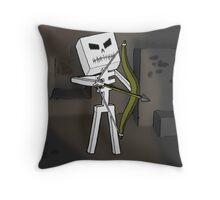 Mine Skeleton  Throw Pillow