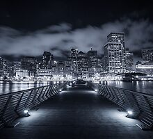 SF Skyline B/W by Raj Golawar