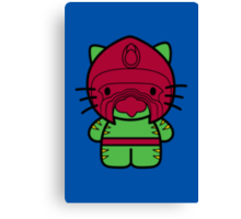 Hello Battle Kitty Canvas Print