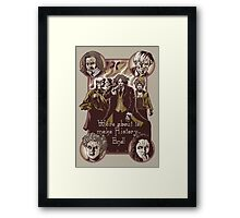 Fearsome Four Framed Print