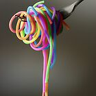 Rainbow Spaghetti by Kitty Bitty