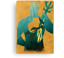 JLA: Aquaman Minimalist Comics Justice League of America Canvas Print