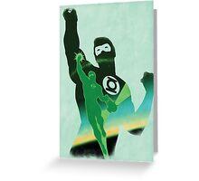 JLA: Hal Jordan Green Lantern Minimalist Comics Justice League of America Greeting Card