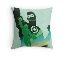JLA: Hal Jordan Green Lantern Minimalist Comics Justice League of America Throw Pillow