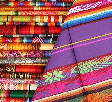 Colorful Linens in Otavalo by rhamm
