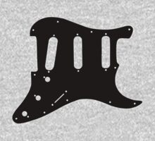 Fender Stratocaster Black Pickguard decoration Clothing & Stickers by goodmusic