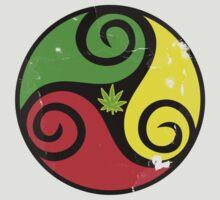 Reggae Love Vibes - Cool Weed Pot Reggae Rasta T-Shirt Stickers and Art Prints with Grunge Texture by Denis Marsili - DDTK