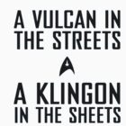 A Vulcan in the Streets - A Klingon in the Sheets by lewislinks
