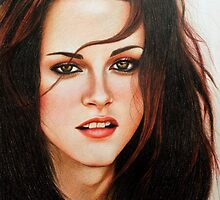 Portrait Drawing Print of Kristen Stewart by Aelyah