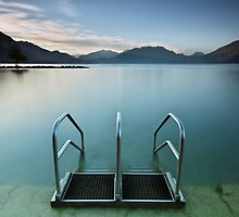 Annecy lake, morning at the beach by Patrick Morand