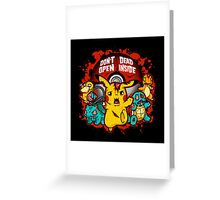 Zombiemon Greeting Card