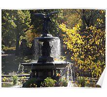 Bethesda Fountain, Central Park,  Autumn Colors, New York City  Poster