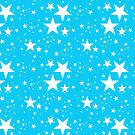 Blue and white stars pattern by Vicki Field