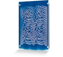 Joy Division Inspired Cyanotype Greeting Card