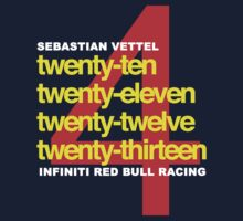 SEBASTIAN VETTEL 4 WORLD CHAMPIONSHIPS by brilliantbutton