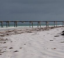 Jetty and beach, Old Eucla by Roselene